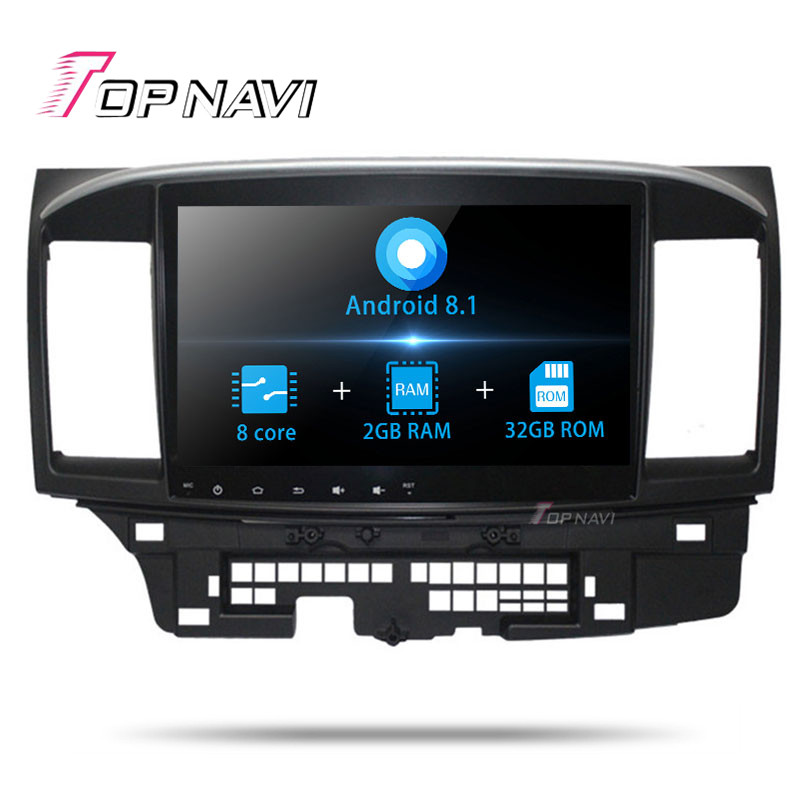 2 Din Android 8.1 10.1 Inch Car GPS Navigation Multimedia player For Mitsubishi Lancer EX 2010 2011 2012 2013 2014 -2016 Stereo image