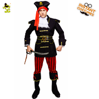 QLQ Halloween Men's Pirate Costume Masquerade New Cool Pirate Clothing Fancy Dress Halloween Party Pirates Clothing