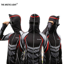 THE ARCTIC LIGHT New Shirts Fishing Clothing Breathable Sunscreen Shirt Men Quick Drying UPF 50+ Long Sleeve Hooded
