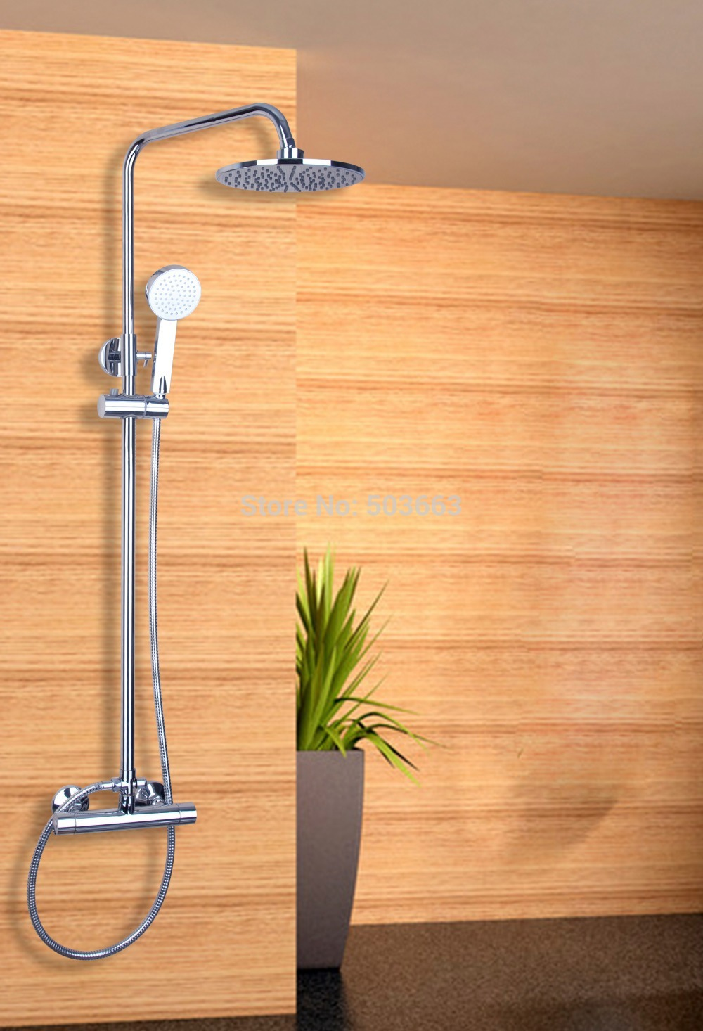 Luxury New 53305 Round 8'' Bath Rain Shower Head Square Wall Arm Rose Mixer Tap Faucet Sets Chrome Water Set china sanitary ware chrome wall mount thermostatic water tap water saver thermostatic shower faucet