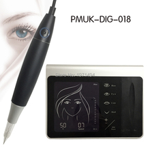 OEM logo czarny cyfrowy permanentny makijaż panel maszynka do tatuażu zestaw urządzeń brwi usta eyeliner MTS długopis maszyna 50 sztuk igły tanie tanio LiRiTY PMUK-DIG-018 Tatuaż zestawy Black S S 316 eyebrow lips eyeliner MTS MED 1RL 3RL 5RL 3F 5F 7F can do logo AC 110V-240V 50 60Hz