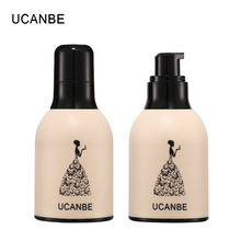 ФОТО ucanbe long-lasting liquid foundation + silicone puff makeup set bb cream waterproof full coverage conceal base primer baby face