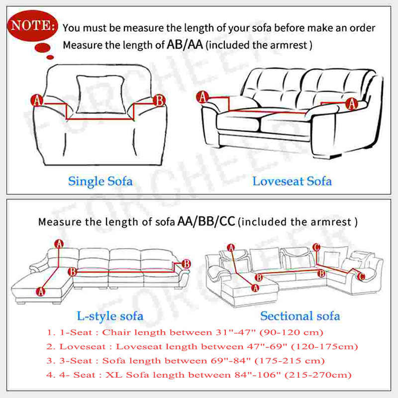 Couch Cover Stretch Printed Elastic Armchair Sofa Slip Cover Spandex Furniture Protector for Living Room Leather L Shape Sofas