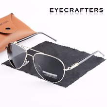 Eyecrafters Mens Sunglasses Polarized Driving Mirrored Pilot Sun Glasses Oculos Eyewear For Male UV400