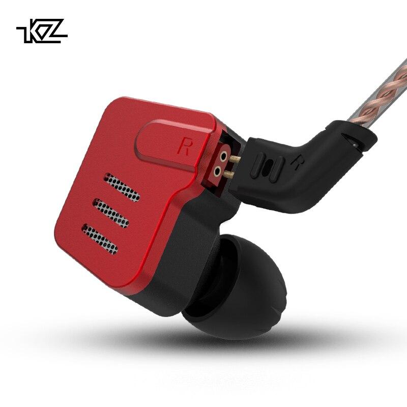 KZ BA10 5BA Fones de Ouvido de ALTA FIDELIDADE de Graves fone de Ouvido Motorista Armadura Balanceada Em Monitor de Ouvido Esporte Fone de ouvido Com Cancelamento de Ruído Fones de ouvido de Metal
