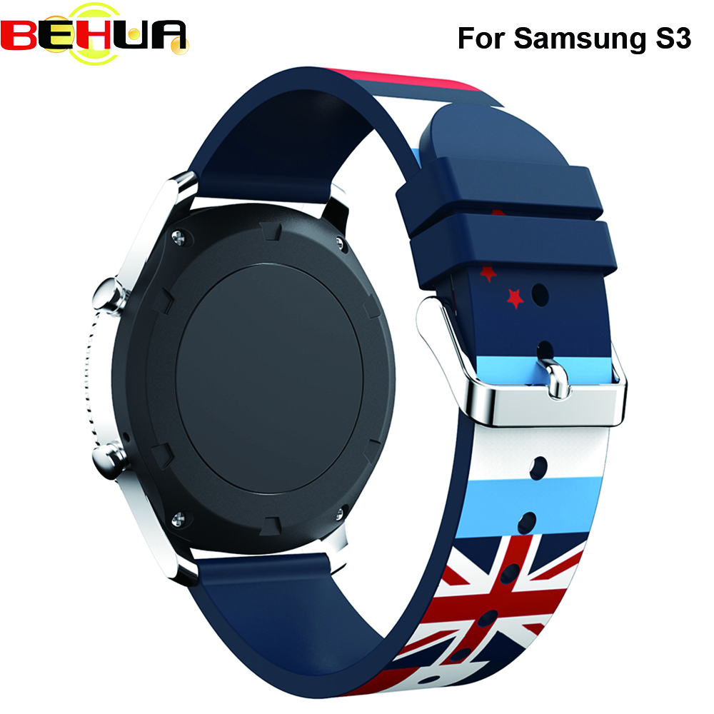 Rubber Watchband For Samsung Gear S3 Frontier / Classic Watch Band Soft Silicone strap Replacement Bracelet Watch Strap 22mm hot sale rubber silicone bracelet strap watch band for samsung gear s3 frontier high quality watchband replacement