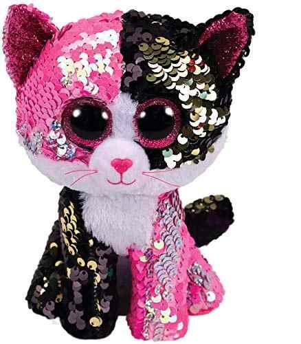 TY Beanie Boos 15cm Pink sequin Unicorn Cat Dog Olw Dange Alpaca Plush Toys  Big Eyes 599cc8a531d8