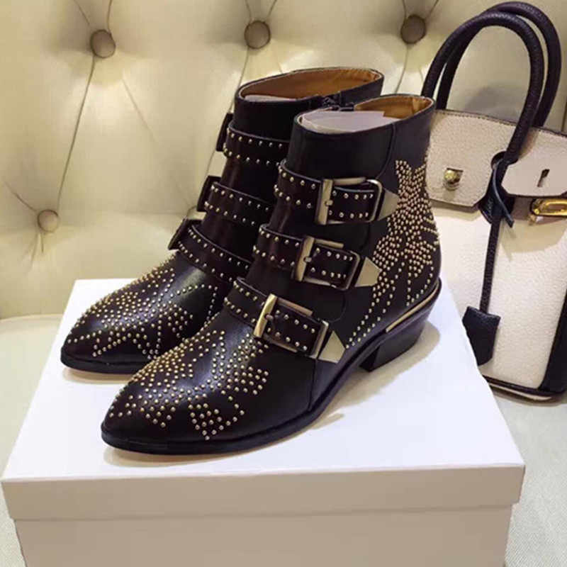 c5b3c2cadc Detail Feedback Questions about 2017 Susanna Studded Real Leather ...