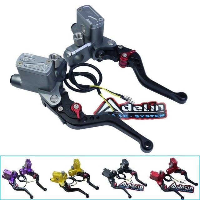 "Motorbike Brake Clutch Pump Lever Hydraulic Master cylinder Motorcycle Accessories 8/7"" 12.7mm piston CNC for Honda Yamaha Black"