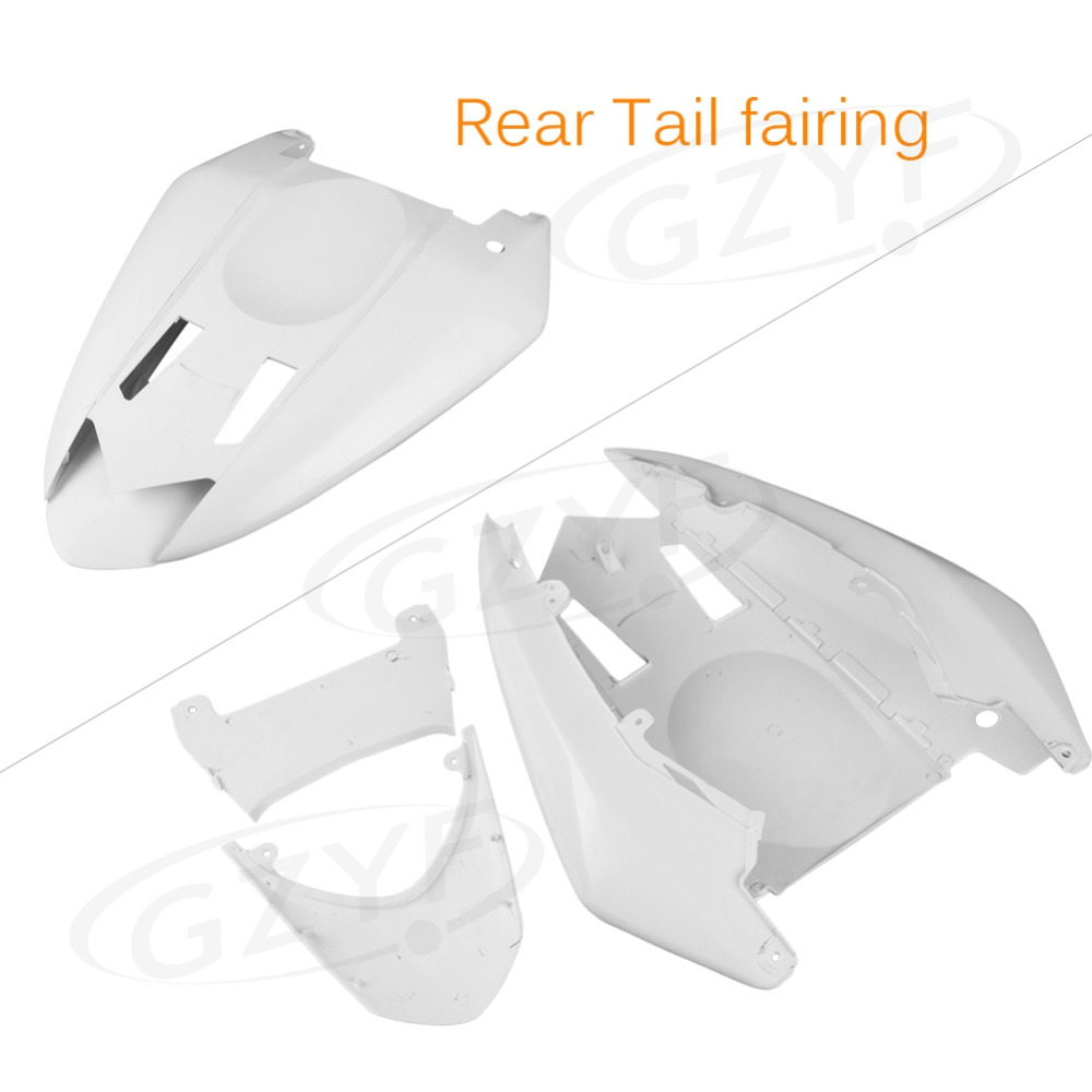 Unpainted Motor Tail Rear Fairing Cover Fit for Kawasaki 2004 2005 Ninja ZX10R ZX-10R, ABS Plastic for yamaha 2003 2004 2005 yzf r6 unpainted motorcycle tail rear fairing abs plastic 03 04 05