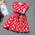 Monkids Girls Dress Cartoon Mouse Dress Girls Clothes Printing Dot Dress Sleeveless Dress Girl Children Girls Clothing