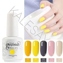 2018 New 15ml Soak Off UV Gel Nail Polish Colors Yellow Gel Polish GelLak Hybrid UV Semi Permanent Gelpolish Esmalte Gel Varnish