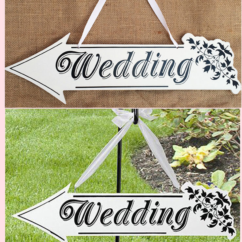 Nºvintage Wedding Signs Wooden With Wedding Letters And Arrows For
