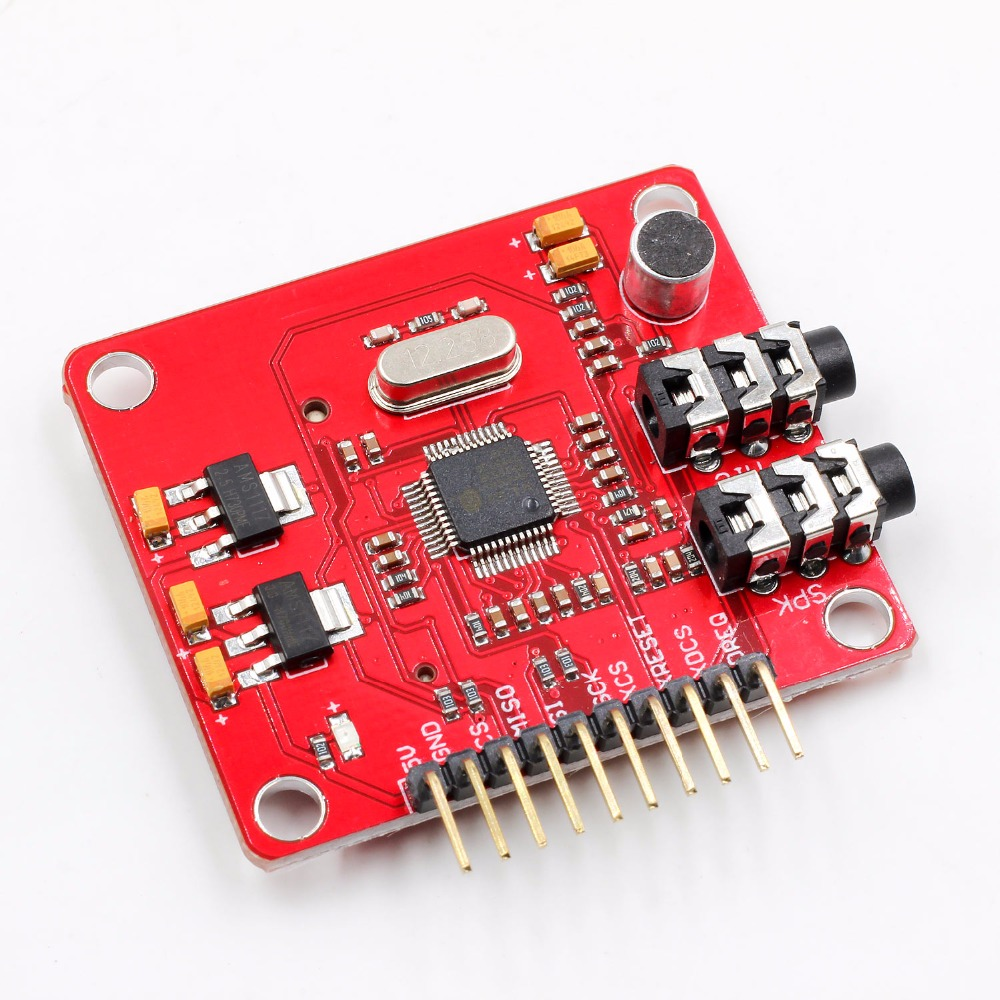 VS1053 VS1053B MP3 Module For Arduino UNO Breakout Board With SD Card Slot VS1053B Ogg Real-time Recording For Arduino UNO One