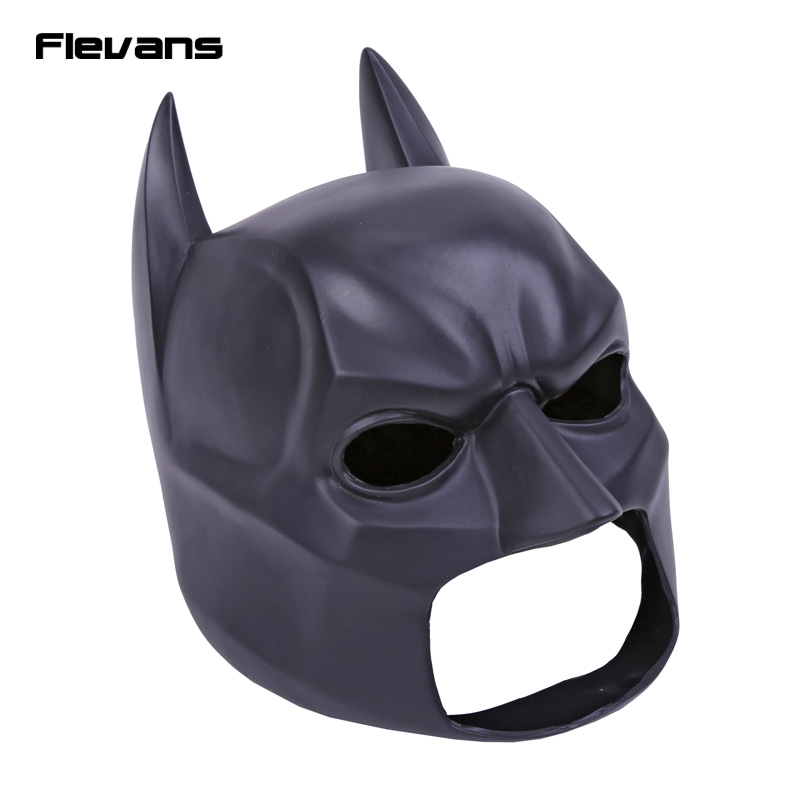 High Quality Black Batman Figure Toy Latex Full Face Mask Adult Superhero Bruce Wayne Party Props Costume Cosplay Rubber Masks sf 16 high quality realistic latex masks full face mask female silicone masks disguise latex mask transsexual
