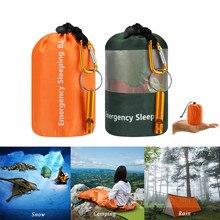 Камуфляжный аварийный спальный мешок для выживания, портативный водонепроницаемый многоразовый термальный спальный мешок