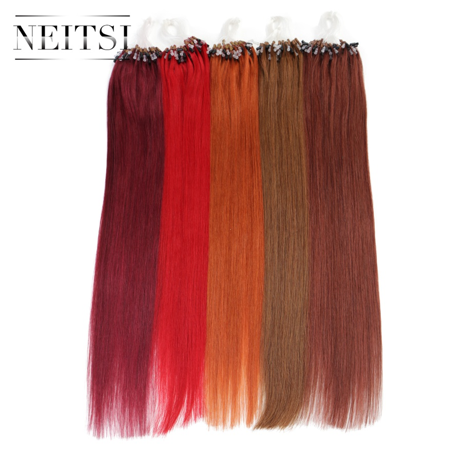 Neitsi straight brazilian loop micro ring bead links hair neitsi straight brazilian loop micro ring bead links hair extensions 100 remy human hair 16 20 24 1gs 100g 20 colors in micro loop ring hair pmusecretfo Choice Image