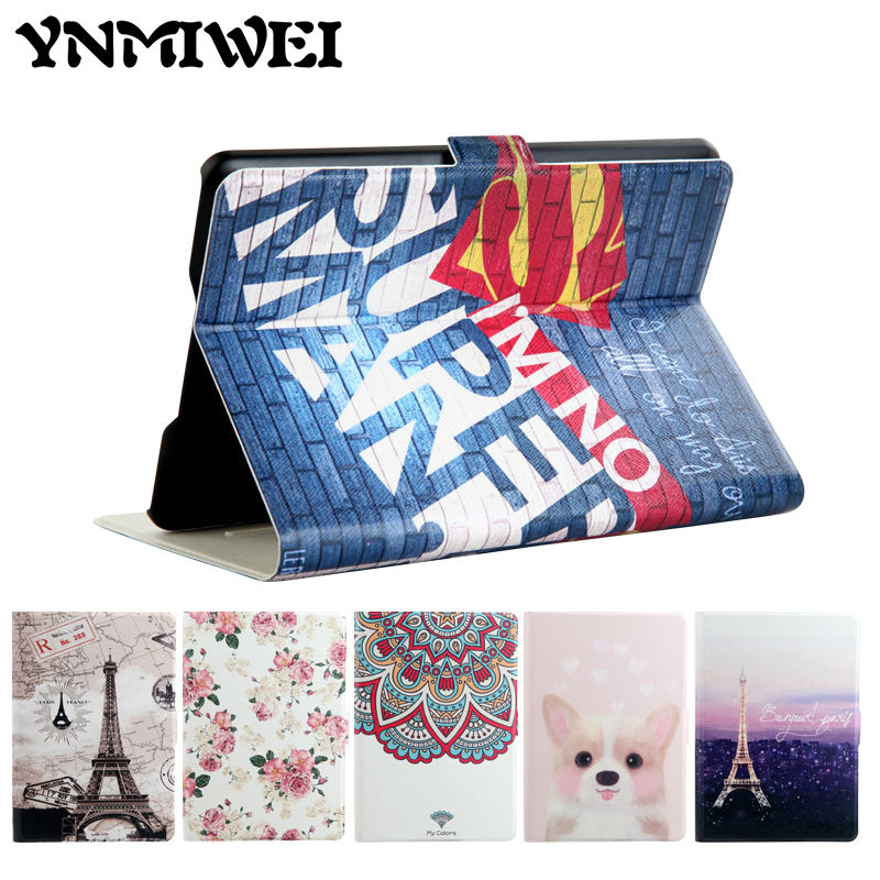 For Amazon Kindle Paperwhite e-Book Leather Case Print Slim Smart Ebook Cover For Kindle Paperwhite 3 E-reader Protective Stand