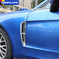 Car Both Side Air Outlet Sequins Decoration Cover Trim 2pcs For Porsche Panamera 2017 18 ABS Exterior Accessories