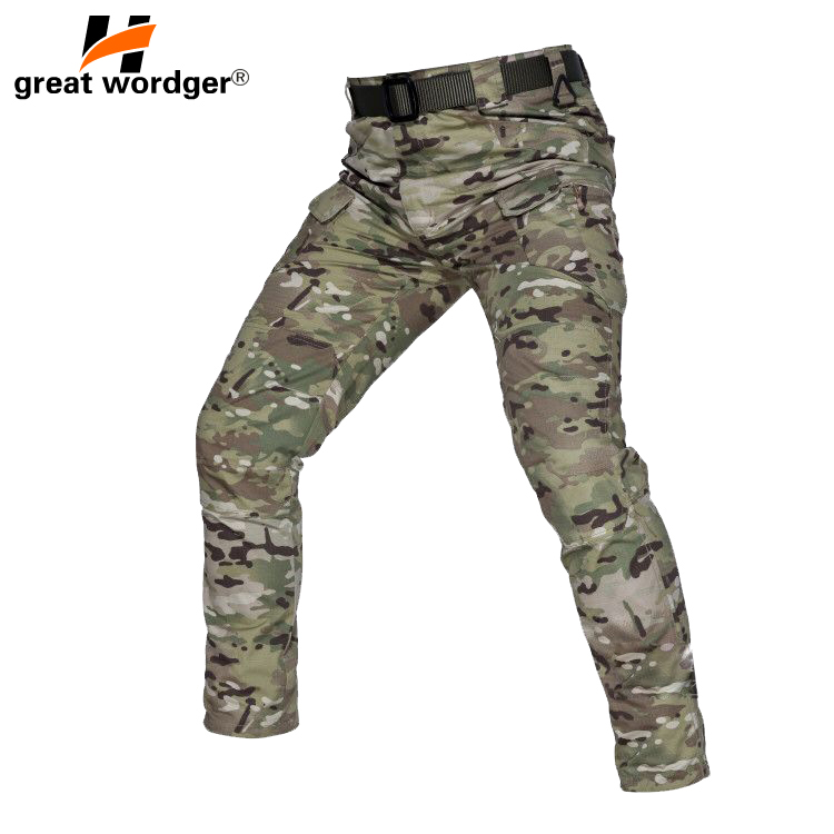 New IX9 Archon Tactical Cargo Pants Men Combat SWAT Army Military Pants Plaid Many Pockets Stretch Flexible Men Trousers in Hiking Pants from Sports Entertainment