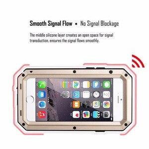 Image 4 - מתכת שריון חיצוני עמיד הלם אלומיניום מקרה עבור iPhone X 7 6 6s בתוספת 5 5S SE כיסוי עמיד למים טלפון מקרים + מסך סרט
