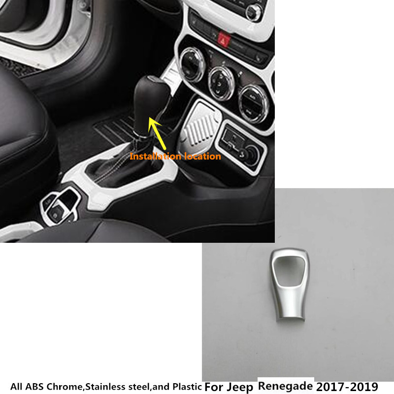 Free shipping For Jeep Renegade 2017 2018 2019 inner car body cover stick styling Shift knob control lamp frame trim 1pcs free shipping car body styling cover stick trim door inner handle bowl frame lamp 4pcs set for mazda cx 5 cx5 2nd gen 2017 2018