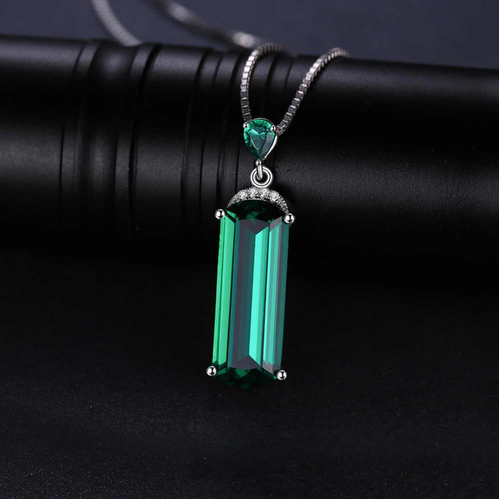 Jдворца имитация нано изумрудное ожерелье с подвеской 925 драгоценные камни из стерлингового серебра Колье эффектное Ожерелье Же