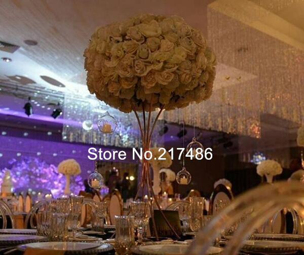 Hot Sale Bling Mental Wedding Column Pillar Walkway Stand