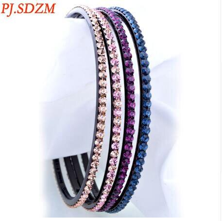 PJ.SDZM 3PCS/LOT Korea Women Hot Style Hairbands Anti-slip Simple Pressure Diamond Hair Clip