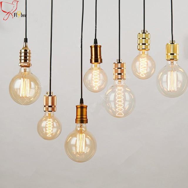 79b64e23040 Nordic Industrial style Edison pendant lamp E27 lamp holder vintage hanging  lamp for Loft Warehouse Chandelier lighting fixture