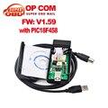 2017 El Más Nuevo obd 2 OP-COM OP COM Para Opel V1.59/V1.59 con PIC18F458 CAN BUS Interfaz OPCOM herramienta diagostic envío Gratis