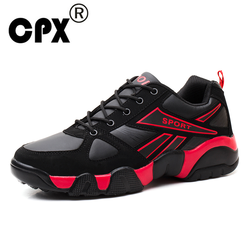CPX Leather Men Running Shoes Retro Sport Shoes Outdoor Walking Shoes Men Sneakers Comfortable men Sport Running Shoes