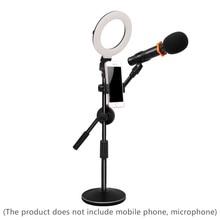 GSKAIWEN 5inch Tabletop Selfie LED Ring Light Dimmable Camera Photo Studio Video Selfie Makeup Light Desk Lamp with Phone Holder