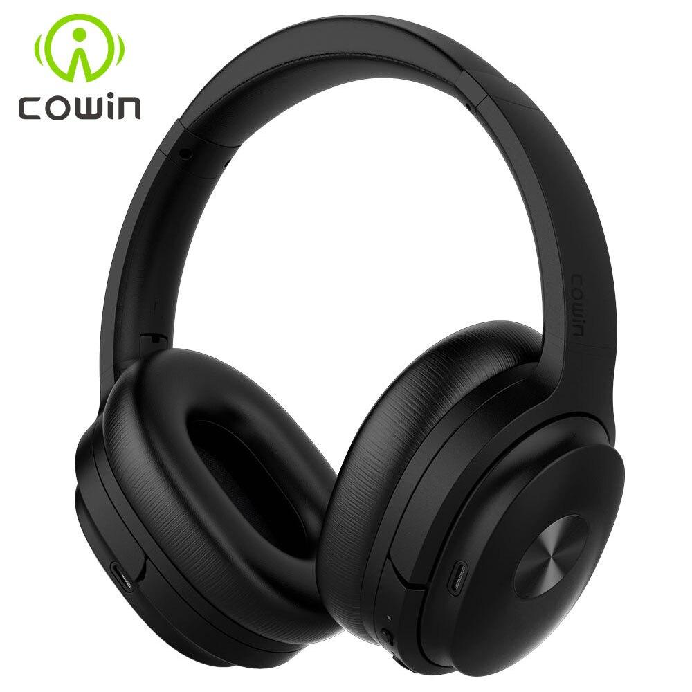 Cowin SE7 actif suppression de bruit sans fil Bluetooth casque pliable sur l'oreille Portable casque pour téléphones musique apt-x
