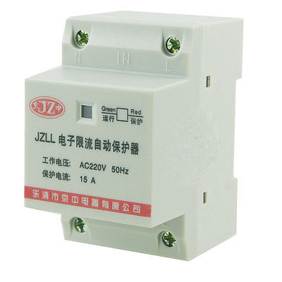 35mm DIN Rail Motor Protector Controller Electronic Circuit Breaker 15A 220V AC