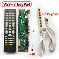 V59 Universal LCD TV Controller Driver Board T.VST590.31  TV+PC+AV+HDMI+USB PAL V59 Driver+Remote+7 Key Swith+IR
