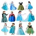Hotsale traje de halloween 4 + 1 piezas de accesorios y sistema del vestido de la princesa anna elsa ropa de carnaval para niños