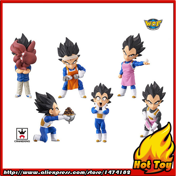 100% Original Banpresto WCF Complete Collection Figure Prince Vegeta - Full Set of 6 Pieces from Dragon Ball SUPER original banpresto world collectable figure wcf the historical characters vol 3 full set of 6 pieces from dragon ball z