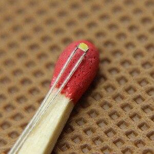 Image 4 - 0402 SMD Led T0402W 20 adet Önceden lehimli mikro litz kablolu açar Parlak Beyaz YENI
