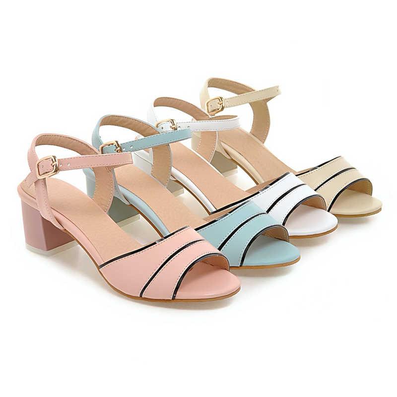 KARINLUNA סיטונאי גדול גודל 32-45 קרסול רצועת נשים נעלי אישה מקרית קיץ סנדלי אישה