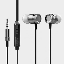 qijiagu Universal 3.5mm Wired Earphone In-Ear Earphones Scrub Common Headset Handsfree Call with Microphone Earphones original jbmmj s800 in ear earphones high quality metal with microphone voice call in ear earphone hifi headset ie800 style