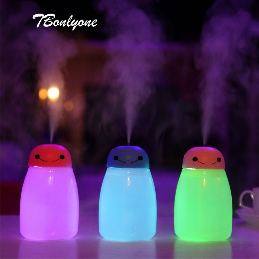 TBonlyone 400ML Large Capacity Humidifier Lamp Humidifier WaterSoluble Oil Aroma Diffuser USB Electric Ultrasonic Air Humidifier ...