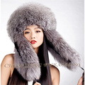 CX-C-160A2 Hot Selling Earflap Thick Design Fancy Style Real Fox Fur Hat