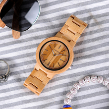 BOBO BIRD V-P23 Natural Bamboo Quartz Wood Watch Men High Quality Wrist watch 2018 New Arrival