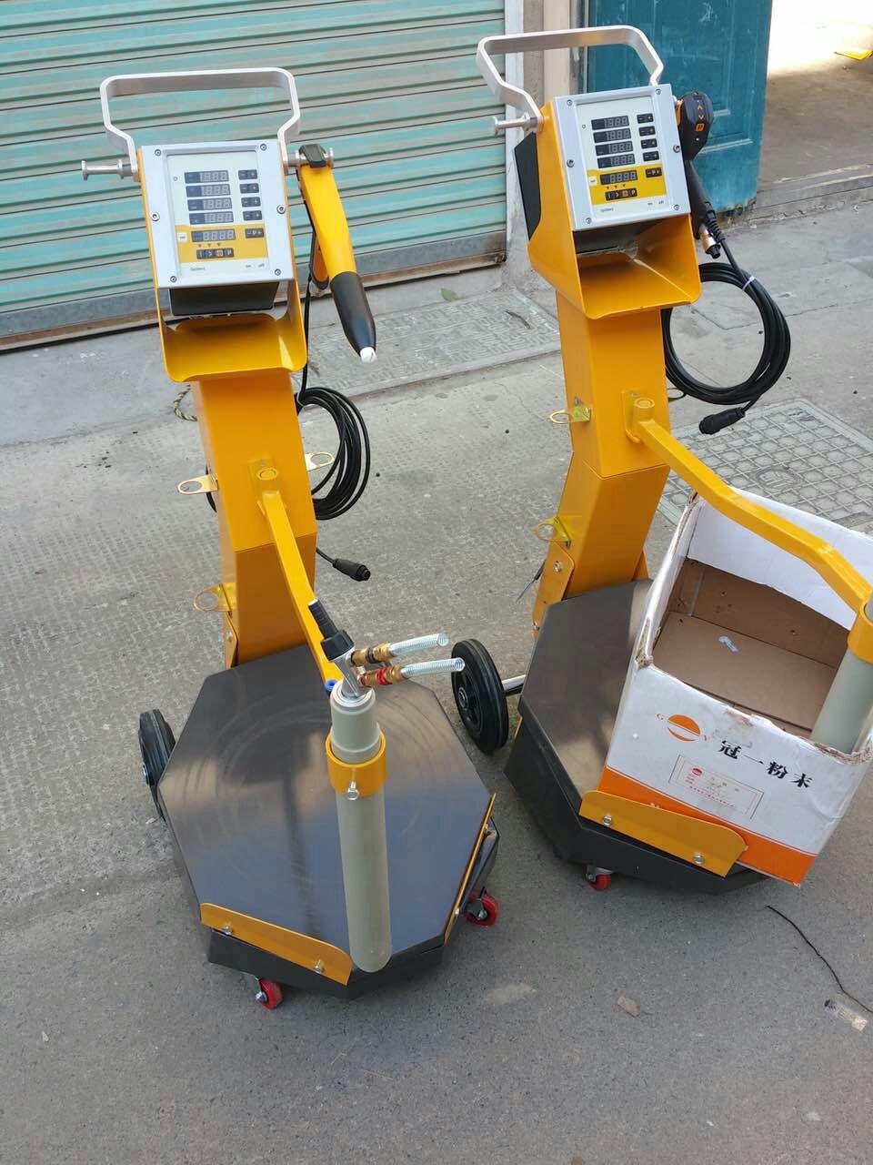 Caja vibratoria alimentación electrostática polvo recubrimiento máquina trajes para Optilex 2B