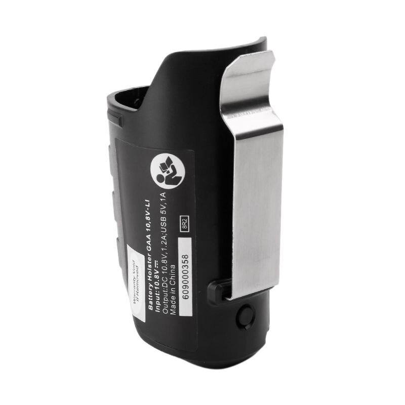 Adaptador USB funda de cargador de repuesto para BOSCH profesional Li-ion batería 10,8 V/12V BHB120 Cargador de coche USB Dual 5V 3.1A adaptador de carga rápida para teléfono móvil cargador de coche universal con pantalla LED para iPhone Samsung Galaxy