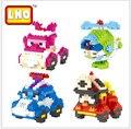 LNO Poli Action Figures Classical DIY Toys Korea Robot Car Building Blocks Toy Present Gift Nano Robocar Bricks
