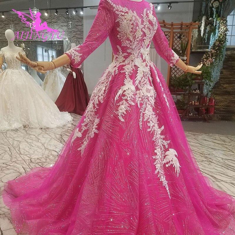 AIJINGYU свадебное платье es Outlet платья португальский костюм Размер 18 на заказ роскошный стиль принцессы мусульманское настоящая фотография Св