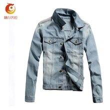 2017 Spring Men's Denim Jacket Coat Blue Slim Fit Jeans Coats Men Brand Clothing Outwear Casual Jackets Cotton Tops Clothes