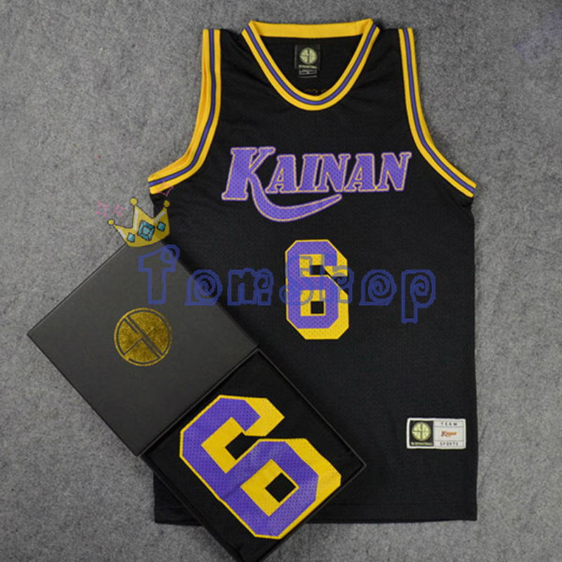 Anime SLAM DUNK Kainan No. 6 SOICHIRO JIN Guest Black Basketball Jersey Tops Shirts Sportswear Team Uniform Free Shipping